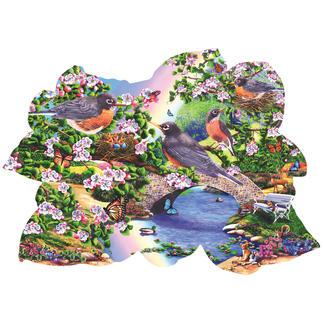 """Puzzle """"Rotkehlchen im Park"""" Puzzeln - Ein Spaß für die ganze Familie – spannend und entspannend zugleich."""
