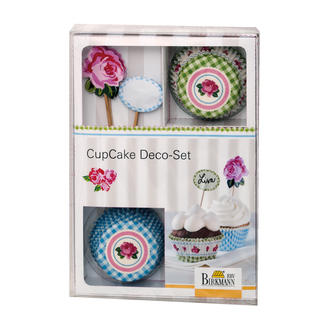 Cupcake Deko-Set - Rose Cupcake Deko-Sets.