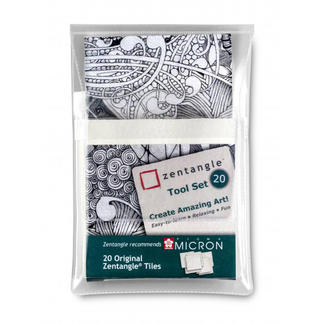 Zentangle® Tiles-Set, 20-teilig