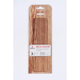 DecoMaché Papier - Holzoptik