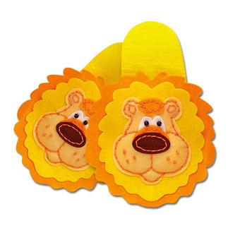 Pantoffeln aus Filz - Löwe Filzen – der beliebte Bastelspaß für Erwachsene und Kinder.