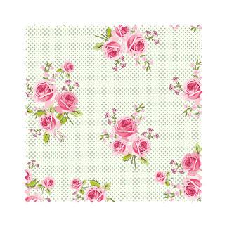 Stoffzuschnitt - Summer Loft, Roses Romantisch-schöne Dessins mit leichten Farben und Mustern.