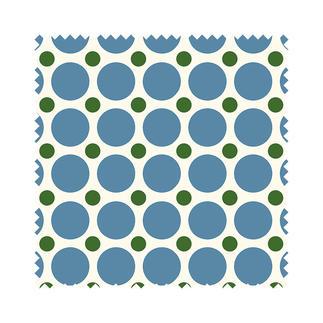 Stoffzuschnitt - Fenton House, Dots klein, Blau Traditionelle Dessins in elegant-kräftigen Farben.