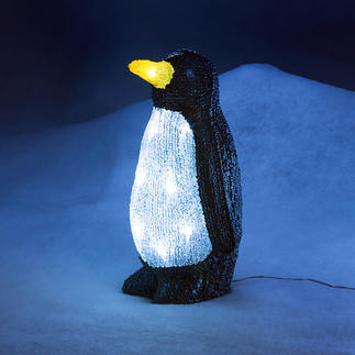Deko LED-Pinguin Glitzernd wie Eis. Und auf Wunsch sensationell illuminiert.