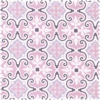 Stoffzuschnitt - Notting Hill, Barock Matte Pudertöne lassen klassische Muster unfassbar schön wirken.