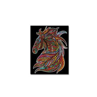 Samtbild - Pferd Samtbilder zum Ausmalen.