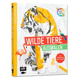 Buch - Tierisch Geometrisch – Wilde Tiere ausmalen