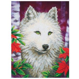 Diamond Dotz® - Weißer Wolf Diamond Dotz®: Steinchen für Steinchen zum spektakulären Ergebnis.