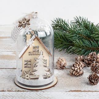 Winterhaus In Szene gesetzt – Winterlandschaften als Minivitrinen.