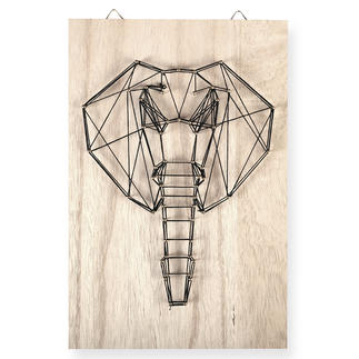 String Art - Elefant String Art: Die trendige Methode für kunstvolle Unikate.