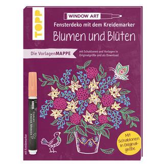 Fensterdeko mit dem Kreidemarker – Blumen und Blüten