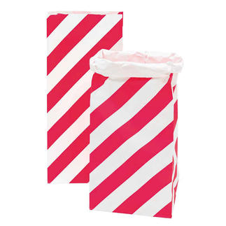 4 Paperbags im Set - Streifen/Punkte Neonpink 4 Paperbags im Set.