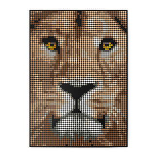 dot on art - Lion, 50 x 70 cm dot on art Klebeposter