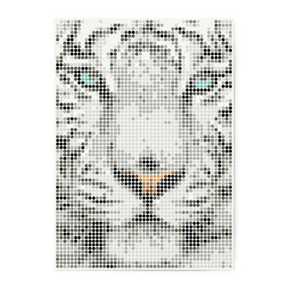 dot on art - Tiger, 50 x 70 cm dot on art Klebeposter