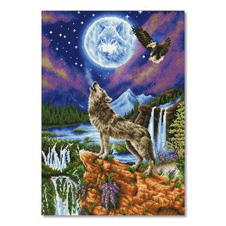Diamond Dotz® - Mystischer Wolf Diamond Dotz® – Steinchen für Steinchen zum spektakulären Ergebnis.