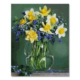 Malen nach Zahlen - Frühlingsblumen Malen nach Zahlen.