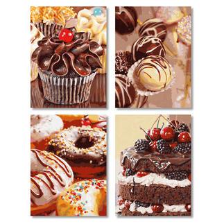 Malen nach Zahlen Quattro - Süße Versuchungen Malen nach Zahlen Quattro - 4 Bilder im Set.