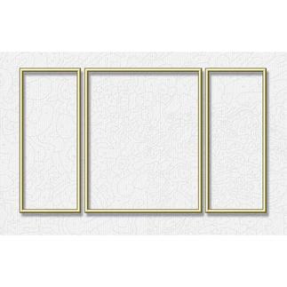 Alu-Rahmen für Malen nach Zahlen Bilder, Goldfarben, Triptychon Hochwertige Alu-Rahmen für Ihre Meisterwerke.