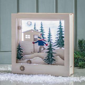 3D-Motivrahmen - Skifahrer Your Story - in a box!