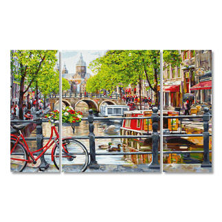 Malen nach Zahlen - Triptychon Amsterdam Malen nach Zahlen