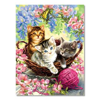 Puzzle - Kätzchen im Korb