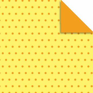 Faltblätter Pünktchen, Gelb/Orange, Ø 10 cm Faltblätter Pünktchen