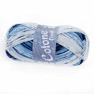 Cotone Fine Print von Lana Grossa - % Angebot %, Blau/Weiß
