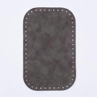 Taschenboden Veloursleder-Optik, Taupe