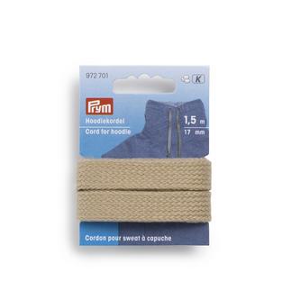 Prym Hoodiekordel, Beige, 4 mm breit, 1,5 m lang