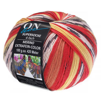 Supersocke 4-fach Merino Extrafein – Color von ONline