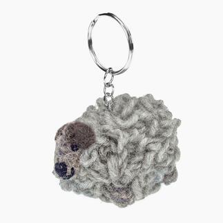 Schlüsselanhänger-Schäfchen Wolli, Grau