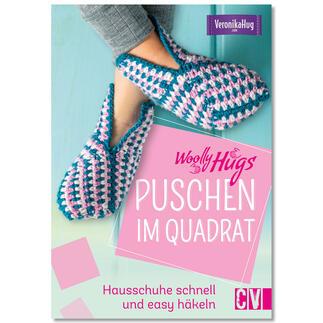 Buch - Woolly Hugs Puschen im Quadrat: Hausschuhe schnell und easy häkeln