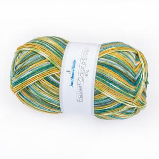 Sockenwolle Freizeit-Color, 6-fädig von Junghans-Wolle Die dickere Variante des bewährten Junghans-Sockengarnes.