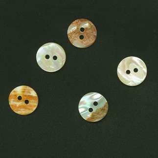 Perlmuttknopf, Beige, Ø 15 mm, 1 Stück Perlmuttknopf, 1 Stück