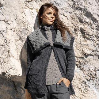Anleitung 127/3, Pullover und Jacke aus Alta Moda Alpaca von Lana Grossa