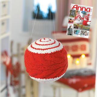 Anleitung 823/4, Weihnachtskugel aus Landwolle von Junghans-Wolle