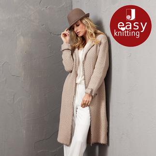 Anleitung 072/5, Mantel aus Merino-Cotton von Junghans-Wolle