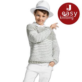 Anleitung 065/7, Kinderpullover aus Denim von Junghans-Wolle