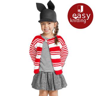 Anleitung 034/7, Kinderjacke aus Cotonara von Junghans-Wolle