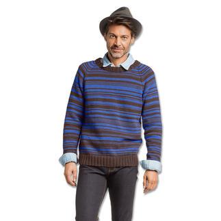 Anleitung 076/7, Herrenpullover aus Merino-Cotton von Junghans-Wolle