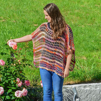 Anleitung 080/7, Poncho aus Bandy Color von Woolly Hugs
