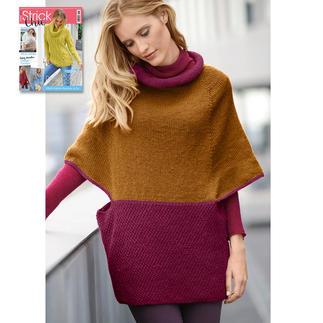 Anleitung 158/7, Damen Pullover-Cape aus Aparta-Nova von Junghans-Wolle