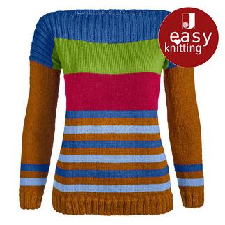 Anleitung 390/7, Damenpullover aus Aparta-Nova von Junghans-Wolle