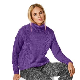 Anleitung 016/8, Pullover aus Merino-Cablé von Junghans-Wolle