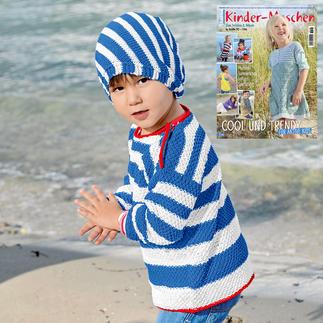 Anleitung 055/8, Kinder Pullover mit Mütze aus Cotonia II von Junghans-Wolle