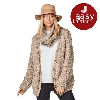 Anleitung 164/8, Damen Jacke aus Bodo von Junghans-Wolle