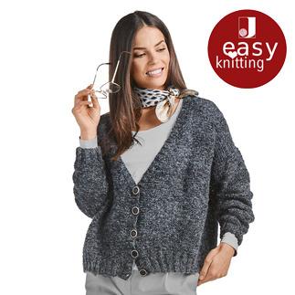Anleitung 220/8, Damenjacke aus Poem von Junghans-Wolle