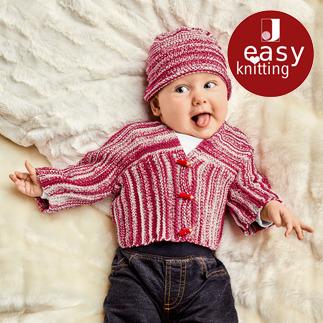 Anleitung 028/9, Babyjacke mit Mütze aus Tappo von Junghans-Wolle