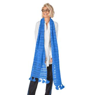 Anleitung 149/9, Schal mit Quasten aus Peru von Junghans-Wolle Anleitung 149/9, Schal, ca. 35 x 180 cm mit Quasten aus Peru von Junghans-Wolle