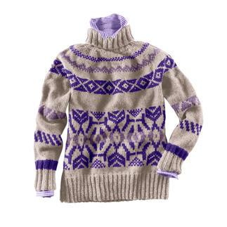 Anleitung 387/9, Pullover aus Landwolle von Junghans-Wolle